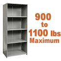 Extra Heavy-Duty Closed Shelving w/ 5 Shelves by Hallowell
