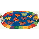 123 ABC Butterfly Fun Rug Carpet by Carpets for Kids