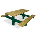 Traditional Dual Pedestal Picnic Tables by UltraPlay