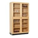 Click here for more Split Level Storage Cabinet with Glass Doors by Diversified by Worthington