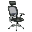 Professional Light AirGrid Back Chair w/ Headrest by Office Star
