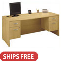 Series C Double Pedestal Desk by Bush Industries