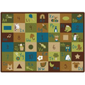 Nature's Colors Learning Blocks Rug by Carpets for Kids