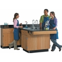 Perimeter Science Lab Workstations w/ Epoxy Tops by Diversified Woodcrafts