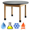 Click here for more Round Science Lab Tables by Diversified by Worthington