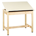 Drafting Table w/ 1-Piece Top by Shain