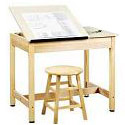 Click here for more Split-Top Drafting Tables by Diversified Woodcrafts by Worthington