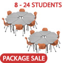 Click here for more Classroom Set- Single Apex Gem Desks & Pumpkin Spice Chairs by Marco Group by Worthington