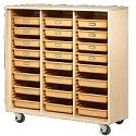 Mobile Tote Tray Storage Cabinet by Shain