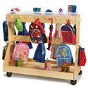 Mobile Backpack Cart w/ Cubbie Trays by Jonti Craft