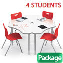 Click here for more Boomerang Dry Erase Desk & Hierarchy Chair Packages by Mooreco by Worthington