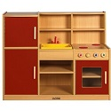 Click here for more Colorful Essentials 4-in-1 Play Kitchen by ECR4Kids by Worthington
