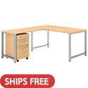 Click here for more 400 Series L-Shaped Desk with Return & Mobile File Cabinet by Bush Business Furniture by Worthington
