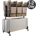 Click here for more Dual Folding Chair Caddy & Folding Table Truck by NPS by Worthington