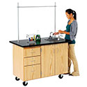 Mobile Science Desk w/ Storage by Diversified Woodcrafts