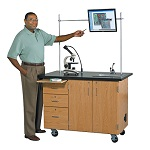 Mobile Science Desk w/ Camera Mount by Diversified Woodcrafts