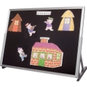 Click here for more Flannel Classroom Tabletop Easel by Best-Rite by Worthington