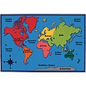 Click here for more World Map ValuePlus Rug by Carpets for Kids by Worthington