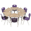 Click here for more 4800 Kaleidoscope Diamond Student Desk by Scholar Craft by Worthington