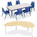 Click here for more Rainbow Accents Kydz Classroom Activity Tables by Jonti-Craft by Worthington