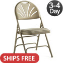 Vinyl Padded Fanback Steel Folding Chairs by Samsonite