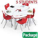 Click here for more Dry Erase Chevron Desk & Hierarchy Chair Packages by Mooreco by Worthington