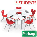 Dry Erase Shapes Harmony Desk & Hierarchy Chair Packages by Mooreco