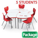 Click here for more Dry Erase Shapes Desk & Hierarchy Chair Packages by Mooreco by Worthington