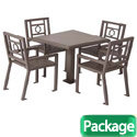 Huntington Outdoor Table & Chairs Set by UltraPlay