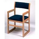 Click here for more Upholstered Library Chair w/ Arms & Sled Base by Georgia Chair by Worthington