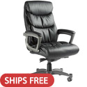 Lisbon Leather Office Chair with Memory Foam by Samsonite