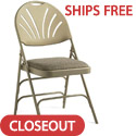 Click here for more Closeout- XL Series Fanback Fabric Padded Seat Steel Folding Chairs by Samsonite by Worthington