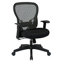 Deluxe R2 SpaceGrid Back Chair w/ 4-Way Arms by Office Star