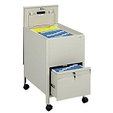 Click here for more Extra Deep Locking Mobile Steel Tub File w/ Drawer by Safco by Worthington