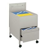 Extra Deep Locking Mobile Steel Tub File w/ Drawer by Safco