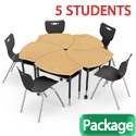 Click here for more Hard Plastic Shapes Desk & Hierarchy Chair Packages by Mooreco by Worthington