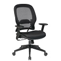 Professional Dark AirGrid Chair with Mesh Seat by Office Star