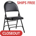 Leather & Memory Foam Comfort Series Padded Steel Folding Chairs by Samsonite