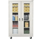 Click here for more Mobile Expanded Metal Front Storage Cabinets by Sandusky Lee by Worthington