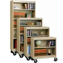 Radius Edge Mobile Metal Bookcases by Sandusky Lee