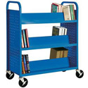 Book Truck with 6 Slant Shelves by Sandusky Lee