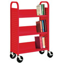 Book Truck with 3 Slant Shelves by Sandusky Lee
