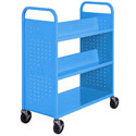 Click here for more Book Truck with 4 Slant Shelves and Flat Bottom by Sandusky Lee by Worthington