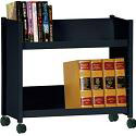 Book Truck with 2 Slant Shelves by Sandusky Lee