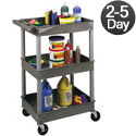 Heavy Duty Utility Cart w/ 3 Shelves by Luxor