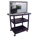 Wide Top Plasma TV Cart by Luxor
