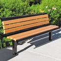 Richmond Recycled Outdoor Bench with Back by UltraPlay