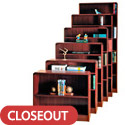 Click here for more Radius Style Wood Bookcases w/ Steel Reinforced Shelves by Norsons by Worthington