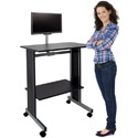 Stand Up Workstation with Flat Screen Mount by Sandusky Buddy