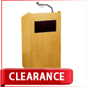 Light Oak Aristocrat Sound Lectern by Oklahoma Sound